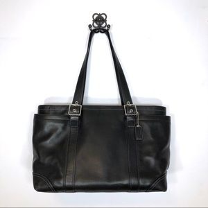 Coach Black Leather Large Baby Bag